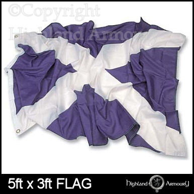 5' x 3' FLAG St Andrews Scottish Saltire Scotland Large